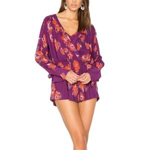 Free People Tuscan Dreams Floral Tunic Dress